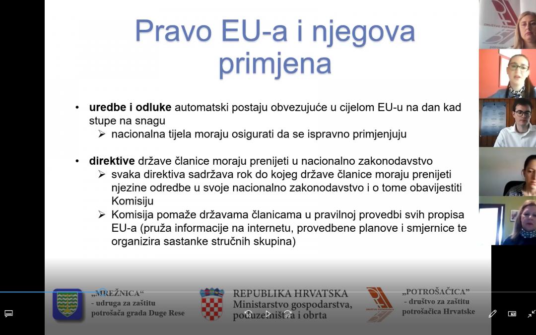 Zakonodavni okvir i prava potrošača u EU