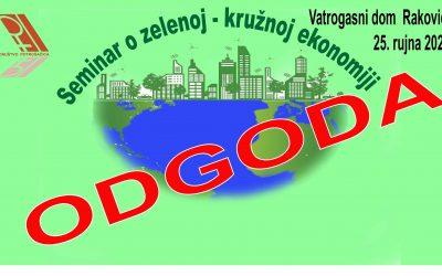Odgoda seminara o zelenoj-kružnoj ekonomiji
