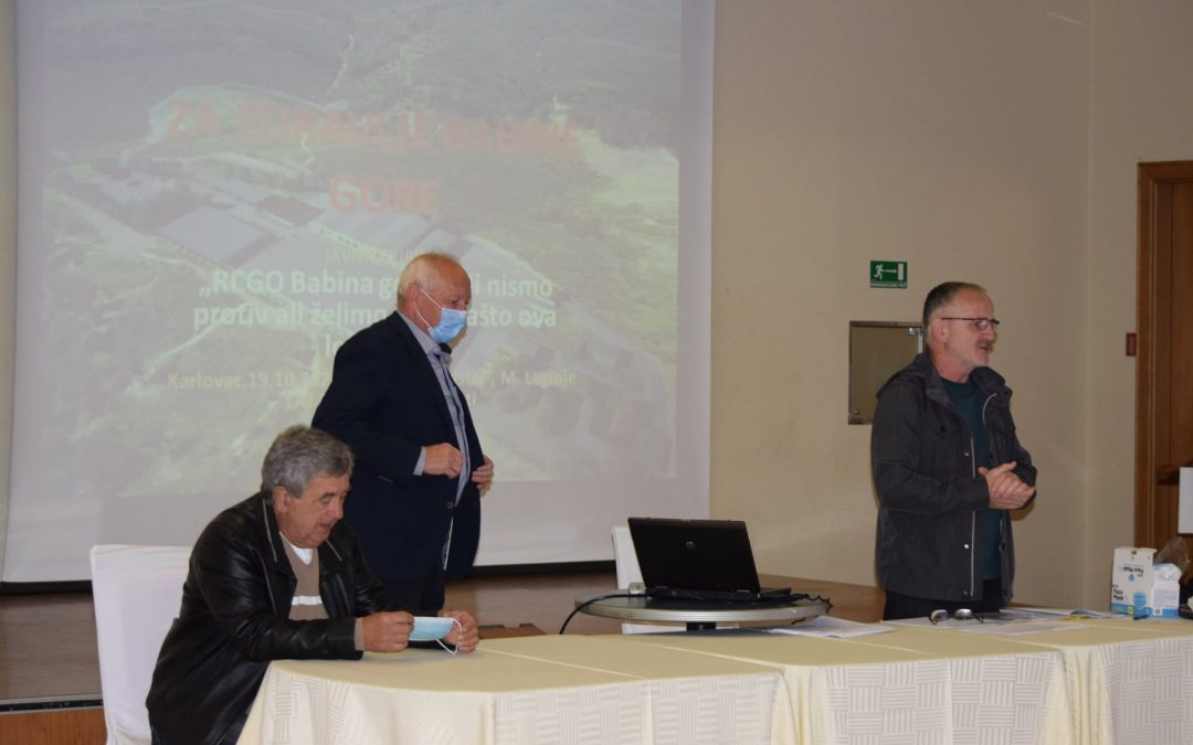 RCGO Babina gora – Mi nismo protiv ali želimo znati zašto ova lokacija