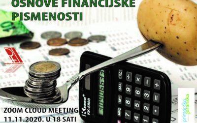 Online webinar Osnove financijske pismenosti