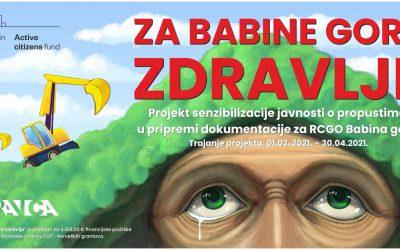 Završene aktivnosti po projektu Za Babine gore zdravlje